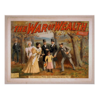 The war of-wealth Vintage American Poster