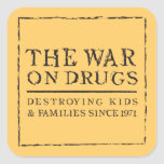 The War On Drugs - Destroying Kids & Families... Square Stickers