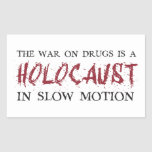 The War on Drugs is a Holocaust in Slow Motion Rectangle Sticker