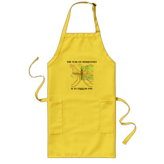 The War On Mosquitoes Is An Endless One (Mosquito) Long Apron
