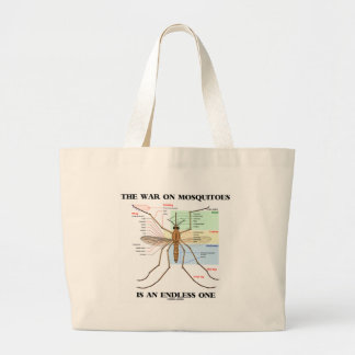 The War On Mosquitoes Is An Endless One (Mosquito) Jumbo Tote Bag