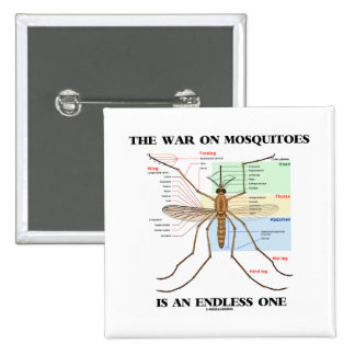 The War On Mosquitoes Is An Endless One (Mosquito) Buttons