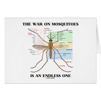 The War On Mosquitoes Is An Endless One (Mosquito) Greeting Card