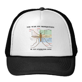 The War On Mosquitoes Is An Endless One (Mosquito) Trucker Hat