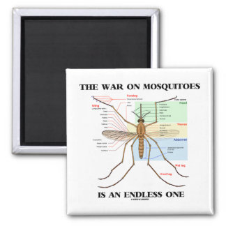 The War On Mosquitoes Is An Endless One (Mosquito) Fridge Magnet