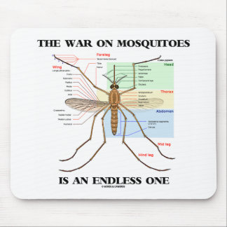 The War On Mosquitoes Is An Endless One (Mosquito) Mouse Pad