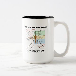 The War On Mosquitoes Is An Endless One (Mosquito) Two-Tone Coffee Mug