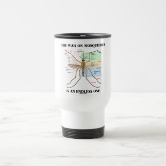 The War On Mosquitoes Is An Endless One (Mosquito) 15 Oz Stainless Steel Travel Mug