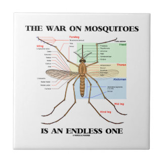 The War On Mosquitoes Is An Endless One (Mosquito) Ceramic Tiles