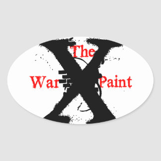 """""""The War Paint"""" Oval Stickers"""