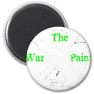"""The War Paint"" White ""X"" Logo Magnet"