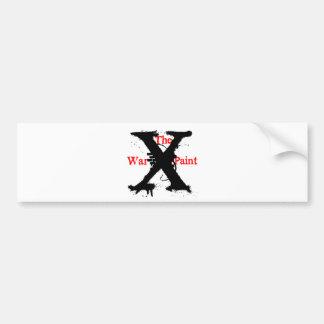 """""""The War Paint"""" 'X' Logo Car Bumper Sticker"""