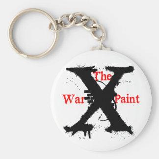 """The War Paint"" 'X' Logo Keychain"