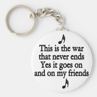 The war that never ends 2 key chains