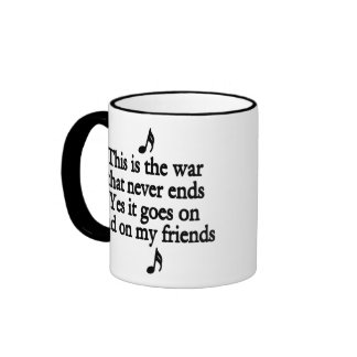 The war that never ends 2 mugs