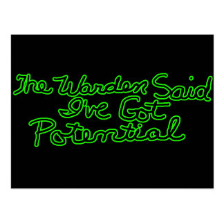 The Warden Said Funny T-shirts Gifts Postcard