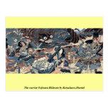 The warrior Fujiwara Hidesato by Katsukawa,Shuntei Post Cards