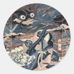 The warrior Fujiwara Hidesato by Katsukawa,Shuntei Sticker
