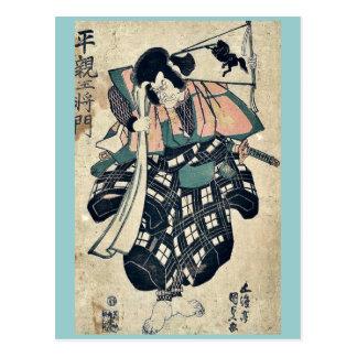 The warrior Heishino Masakado by Utagawa, Toyokuni Postcard