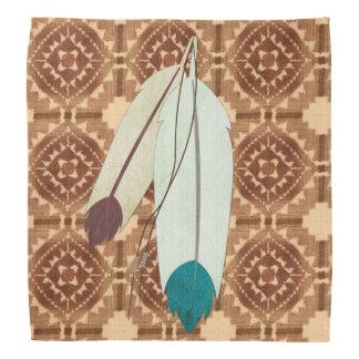 The Warrior Native American Folk Art Bandana