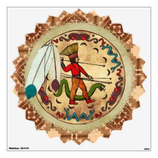 The Warrior Native American Folk Art Wall Sticker