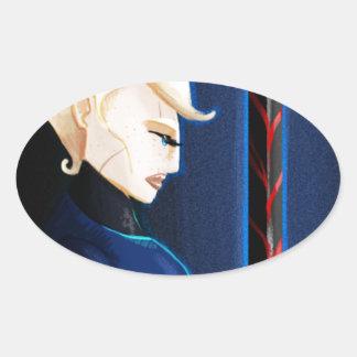 The Warrior Oval Sticker