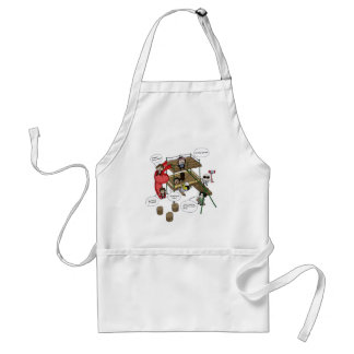 The Warriors come out to play. Adult Apron