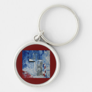 The Warriors Farwell After Battle Silver-Colored Round Keychain