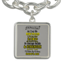 The Warrior's Prayer...Endometriosis Charm Bracelet