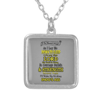 The Warrior's Prayer...Endometriosis Silver Plated Necklace