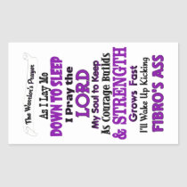 The Warrior's Prayer   Fibro Rectangular Sticker