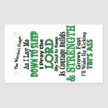 The Warrior's Prayer   TBI Rectangular Sticker