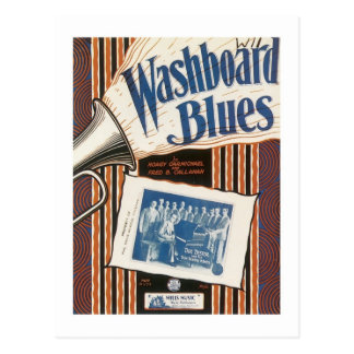 The Washboard Blues Vintage Songbook Cover Postcard