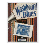 The Washboard Blues Vintage Songbook Cover Poster