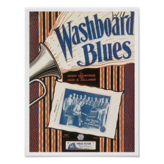The Washboard Blues Vintage Songbook Cover Print