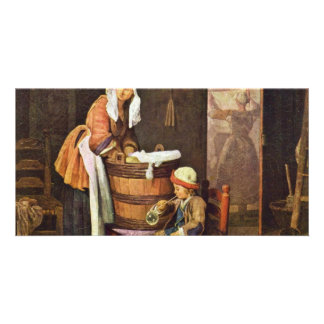 The Washerwoman,  By Chardin Jean-Baptiste Siméon Photo Card Template