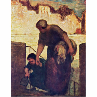 The Washerwoman By Daumier Honoré Photo Cut Outs