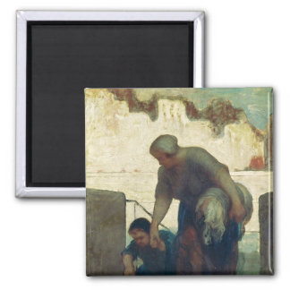 The Washerwoman, c.1860-61 2 Inch Square Magnet