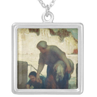 The Washerwoman, c.1860-61 Silver Plated Necklace