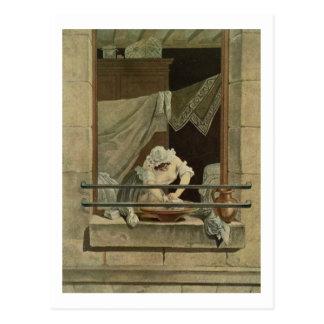 The Washerwoman, engraved by J. Laurent Julien (c1 Postcard