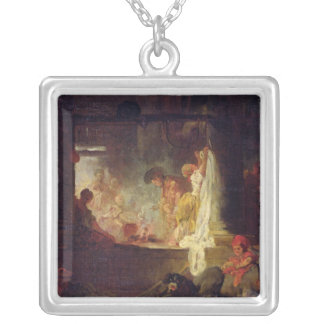 The Washerwomen, c.1759 Silver Plated Necklace