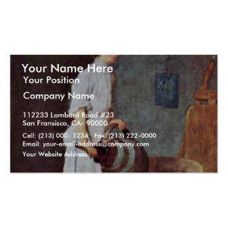 The Washing Up Guy In The Pub By Chardin Jean-Bapt Double-Sided Standard Business Cards (Pack Of 100)