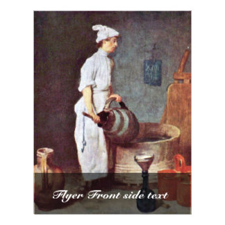 "The Washing Up Guy In The Pub By Chardin Jean-Bapt 8.5"" X 11"" Flyer"