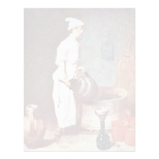 The Washing Up Guy In The Pub By Chardin Jean-Bapt Letterhead