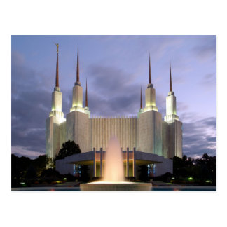The Washington D.C. LDS Temple Postcard