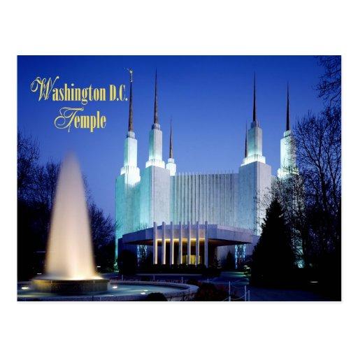 The Washington D.C. Temple in Kensington, Maryland Postcards