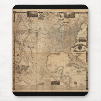 The Washington Map of the United States (1861) Mouse Pad