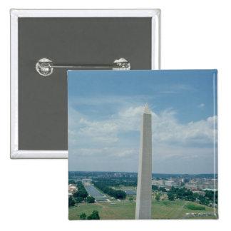 The Washington Monument, built 1848-85 2 Inch Square Button