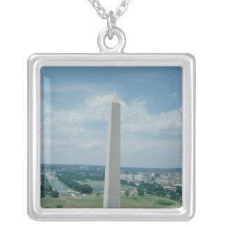The Washington Monument, built 1848-85 Square Pendant Necklace