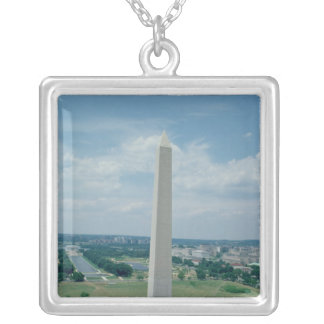 The Washington Monument, built 1848-85 Silver Plated Necklace